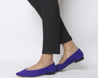 Office Fleur Pointed Flats Purple Suede