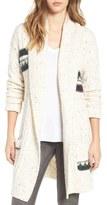 BP Women's Texture Stripe Knit Cardigan