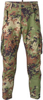 DSQUARED2 camouflage tapered trousers