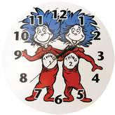 Trend Lab Dr. Seuss Thing 1 and Thing 2 Wall Clock