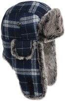 Weatherproof Plaid Aviator Hat - Insulated, Ear Flaps (For Men and Women)