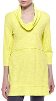 Neon Buddha Under-the-Sun Cowl-Neck Tunic
