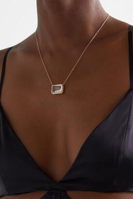 Shay 18-karat Rose Gold, Topaz And Diamond Necklace