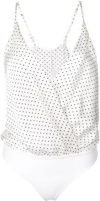 Mason by Michelle Mason Wrap Style Bodysuit