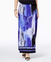 ECI Ikat-Print Maxi Skirt