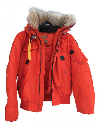 Parajumpers Orange Polyester Leather jackets
