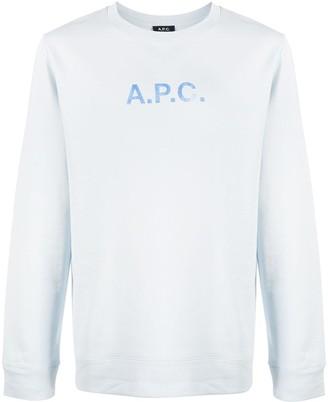 A.P.C. Logo Print Round Neck Sweatshirt