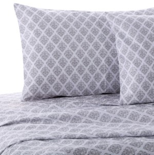 Levtex Home Gray Damask Twin Sheet Set Bedding