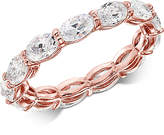 Giani Bernini Cubic Zirconia Oval Eternity Band in 18k Gold-Plated Sterling Silver, Created for Macy's