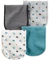 Carter's Baby Boys' 4-Pack Little Wild One Burp Cloths