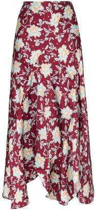 Chloé red and blue floral print skirt