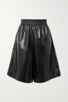 Bottega Veneta Leather Shorts - Black