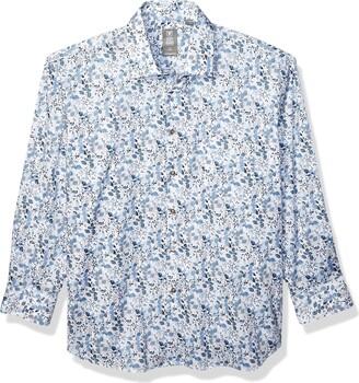 Stacy Adams Men's Big and Tall Contemporary Modern Fit Dress Shirt