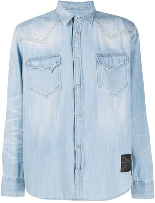 John Richmond Denim Long Sleeve Shirt
