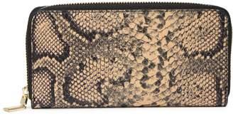 Persaman New York Lurdes Leather Zip Wallet