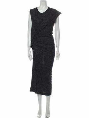 Etoile Isabel Marant Crew Neck Long Dress Grey