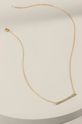 francesca's Emma CZ Bar Necklace - Gold