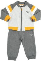 Armani Junior Zip-Up Cotton Sweatshirt & Sweatpants