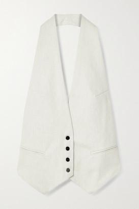 Gold Sign Open-back Cotton-twill Halterneck Vest