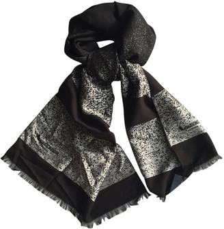 Aquascutum London Black Viscose Scarves