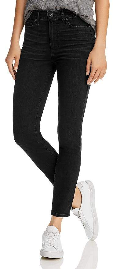 Paige Hoxton Ankle Jeans in Black Willow