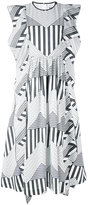 MSGM graphic print dress - women - Cotton - 42