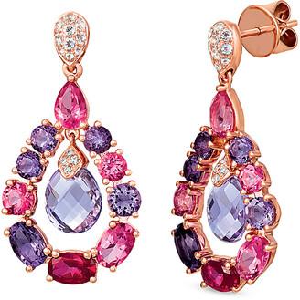 LeVian Le Vian 14K Rose Gold 8.42 Ct. Tw. Diamond & Gemstone Earrings
