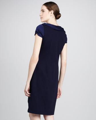 Elie Tahari Verda Satin-Top Dress