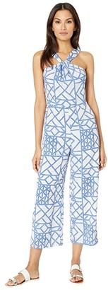 Vineyard Vines Lattice Halter Jumpsuit (Marlin) Women's Jumpsuit & Rompers One Piece