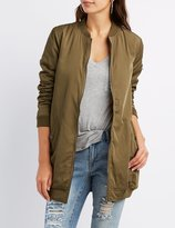 Charlotte Russe Longline Bomber Jacket