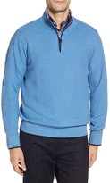 Tailorbyrd Men's Killona Tipped Quarter Zip Sweater