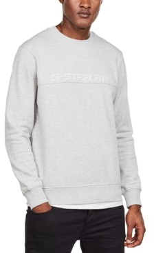 G Star Men's Embroidered Paneled Sweater, Created for Macy's