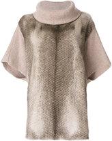Liska - fur trim sweater - women - Mink Fur/Cashmere - M
