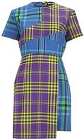 House of Holland Women's Cross Over Tartan Dress Blue/Purple/Tartan
