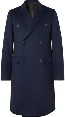 Paul Smith Slim-Fit Double-Breasted Wool And Cashmere-Blend Overcoat