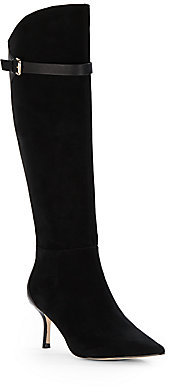 Ivanka Trump Suede Point Toe Boots