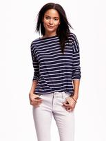 Old Navy Striped Boat-Neck Tee for Women