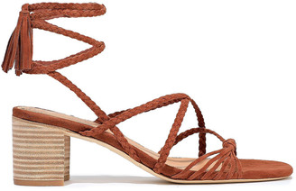 Sigerson Morrison Haize Knotted Braided Suede Sandals