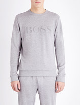 HUGO BOSS Logo print cotton-jersey sweatshirt