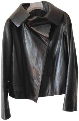 Jil Sander Black Leather Leather Jacket for Women