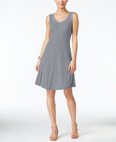 Style&Co. Style & Co Style & Co. Petite Chevron-Print A-Line Dress, Created for Macy's