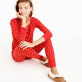 J.Crew Petite knit pajama set in polka dot