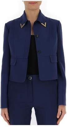 Valentino V Collar Cropped Jacket