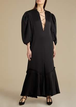 KHAITE The Bianca Dress in Black