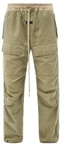 Thumbnail for your product : Fear Of God Drawstring Cotton-canvas Cargo Trousers - Green