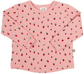 Oeuf Strawberry-Print Cotton Sweatshirt