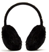 Yves Salomon Fur-trimmed faux-pearl embellished ear muffs