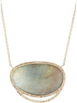 Monique Péan Women's Grey Sapphire Slice & Champagne Diamond Pendant Necklace