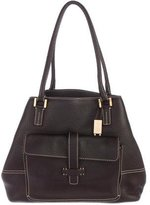 Loro Piana Large Globe Pebbled Leather Shoulder Bag