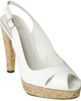 white patent 'Exsling' slingback sandals